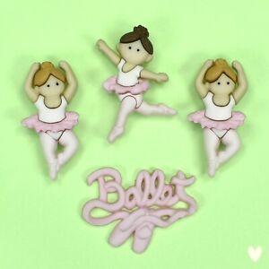 DRESS IT UP Buttons Little Ballerinas 6954 - Embellishment  - Xmas Garden
