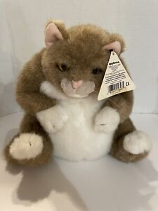 "Dakin Applause Pampered Pet Cat Peewee Plush Stuffed Animal 12"" Fat Kitty Tan"
