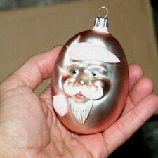 1999 vintage early Patricia Breen glass ornament Egg head shaped Santa