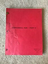 CANNONBALL RUN  PART 11, Screenplay Script.