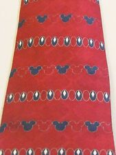 DISNEY MICKEY MOUSE EAR TIE MAROON 57 INCHES- SEE PICS