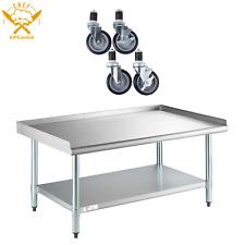 30 X 48 Stainless Equipment Stand Undershelf Galvanized Legs With Caster Wheels