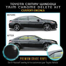 Fit 18-20 Toyota Camry Window Trim Chrome Delete Blackout Kit - Gloss Black