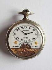 Vtg-Antique Hebdomas by Arnex 8-day Open Face Pocket watch - 15 Jewel, Swiss,Old
