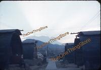 Korea Korean War Military Barracks Pusan 1950s 35mm Slide Red Border Kodachrome