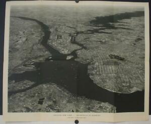 GREATER NEW YORK UNITED STATES 1933 NATIONAL GEOGRAPHIC PHOTOGRAPH CITY VIEW