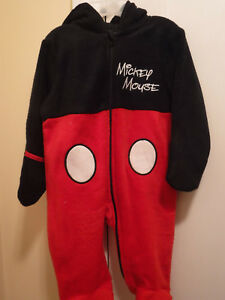 Infant Disney Mickey Mouse One Piece with Hood, Long Sleeve,Size 3-6 Months, NWT