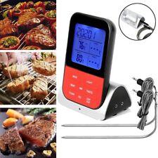Digitales Bratenthermometer Funk Grillthermometer Fleisch-Thermometer 2-Fühler