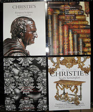 **  Christies catalogue - x4, furniture and decorative objects, art  f111