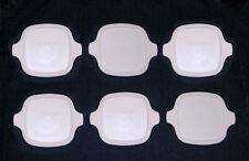6 NEW Corning Ware Petite Lids P-41-B/P-43-B White Storage Covers FREE SHIPPING