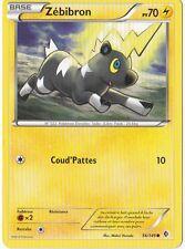 Zebibron - N&B:Frontieres Franchies - 56/149 - Carte Pokemon Neuve Française
