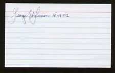 George W. Simon signed autograph auto 3x5 index card NASA Astronaut