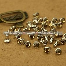 100pcs 6mm Champagne Color Acrylic Rivet Spot Nickel Punk Bag Belt Leathercraft