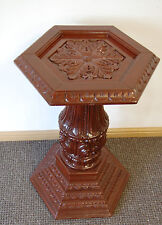 Support de téléphone statue lampe colonne pilier Handcarved socle en bois piédestal post