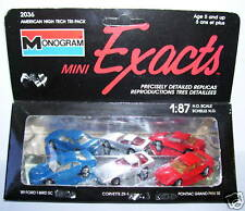 3 EXACTS MONOGRAM HO 1/87 FORD THUNDERBIRD CHEVROLET CORVETTE PONTIAC GRAND PRIX