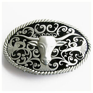 Western Decor Western Longhorn Silver Plated Buckle