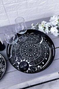 Killstar Gothic Goth Okkult Tablett - Sky Spirit Serving Tray Sterne Mond Sonne