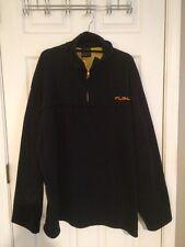 Mens Fubu 3XL Fleece Pullover 1/4 Zip Jacket Vintage EXCELLENT! Navy Hip Hop