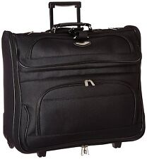 Garment Bag With Wheels For Suits Travel Carry On Suitcase Rolling Luggage Fold