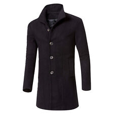 Winter Men Fashion Trench Coat Warm Thicken Jacket Peacoat Long Overcoat Outwear