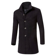 Winter Men Fashion Trench Coat Warm Thicken Jacket Outwear Peacoat Long Overcoat