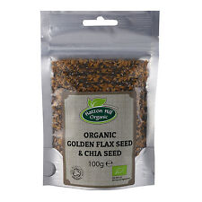 Organic Golden Flax Seed (Linseed) & Chia Seed Mix 100g Certified Organic