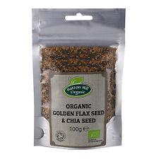 Organic Golden graine de lin (Lin) & Chia Seed Mix 100 G Certified Organic