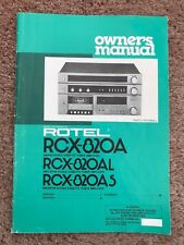 Rotel RCX-820A,RCX-820AL & RCX-820AS Owners Manual
