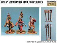 Lead Adventure Miniatures: Schweinstein Revolting Peasants (3) - LAM-BRU-71