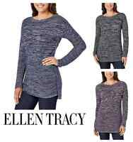 NEW Ellen Tracy Women's Marled Knit Boat Neck Long Sleeve Sweater VARIETY