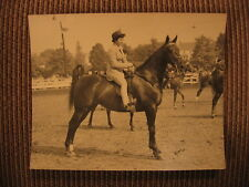 "American Saddlebred ""Robin Hill Mam-zelle"" & Joanne Link Orig. 1950 Horse Photo"