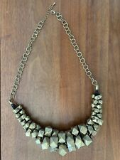 CHUNKY GOLD TONE GEOMETRIC NECKLACE