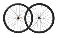 38mm Carbon wheels clincher tyres matt road bicycle wheelset 700C race rim
