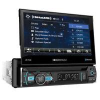 SOUNDSTREAM Single DIN Bluetooth DVD/CD Car Stereo w/ Flipout Screen | VR-75XB