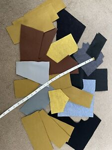 Job Lot Large Pieces Brown Grey FeltOffcuts   Crafts /Scrapbooking Cards Sewing