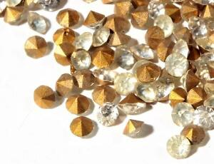 Lot (650) ss11 Czech vintage mixed foiled crystal clear glass rhinestones