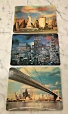 More details for set of 3 x vintage lenticular super xograph 3d postcards of new york unposted