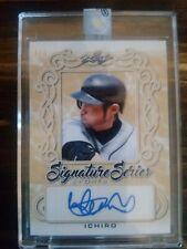 ICHIRO SUZUKI TRUE 1/1 ON CARD AUTO!!! 2020 Leaf Signature Series autograph!!!