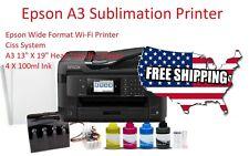 "A3 Sublimation Printer Bundle,Epson Printer ,CISS System Ink,13""X19"" 110 Sheets"