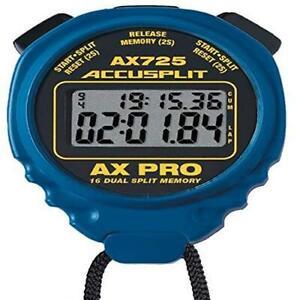 ACCUSPLIT AX725 PRO MEMORY (16) Dual Line Stopwatch (Blue)