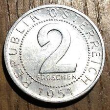 PIECE DE 2 GROSCHEN 1951 ALUMINIUM AUTRICHE (351)