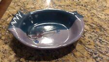 KENT FOLLETTE Pottery Glazed Fish Baker Casserole Baking Dish ~ Purple Teal