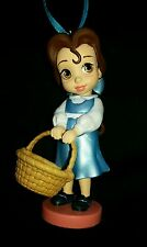 Disney Young Belle Animator Christmas Ornament NEW Beauty and the Beast blue