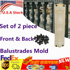 Set 2 Piece Moulds Balustrades Mold Kits for Concrete Plaster Cement Front Back