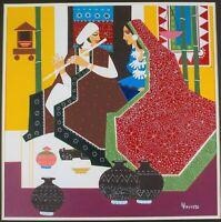 Original Painting by Listed Indian Artist Kartik Trivedi of Lover's Music