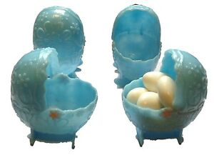 """12 pcs - 2.5"""" x 2.5"""" Plastic Buggy Carriage Baby Shower Favor Blue candy holders"""