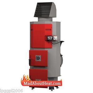 DABI 35KW Multi Fuel Log Waste Wood Space Air Heater Burn Pallets Cardboard