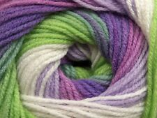 100gr Magic Light #47990 Greens Purples Orchid White Ice SelfStriping DK Yarn