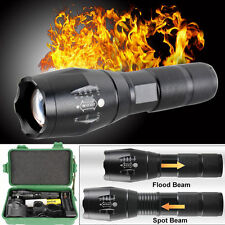 5000LM Tactical Zoomable XML T6 LED Military Flashlight Torch Light Lamp +Case
