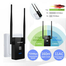 750Mbps Dual Band 2.4/5.8G Wireless Repeater 802.11AC Router WiFi Range Extender